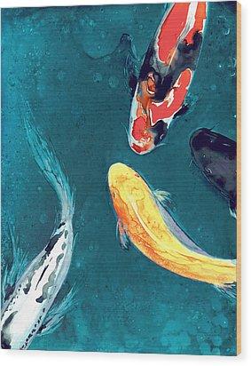 Water Ballet Wood Print by Brazen Edwards