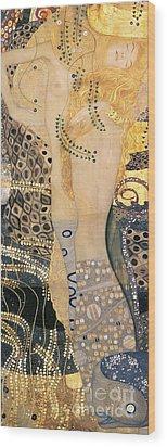 Water Serpents I Wood Print by Gustav klimt