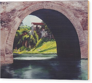 Water Under The Bridge Wood Print by Dominica Alcantara