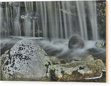 Waterfall Ribbons Wood Print by Stephen  Vecchiotti