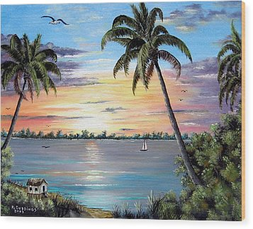 Waterfront Property Wood Print by Riley Geddings