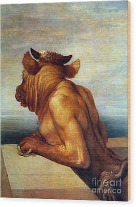 Watts: The Minotaur Wood Print by Granger