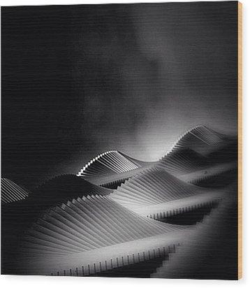 Waves Of Steel - Concrete Jungle Wood Print by Robbert Ter Weijden