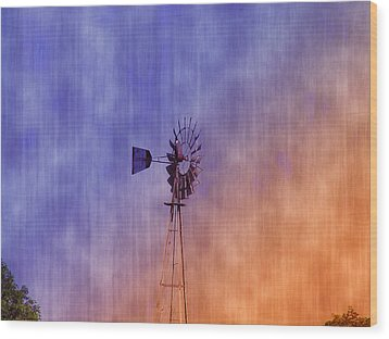 Weather Vane Sunset Wood Print by Bill Cannon