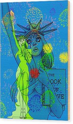 Weeping Liberty Wood Print by Lynn Rider