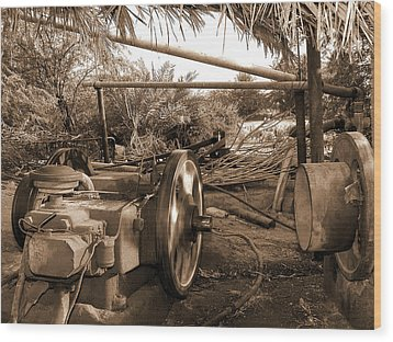 Well Pump Wood Print by Graham Taylor