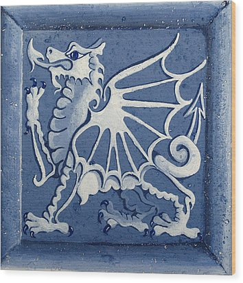 Welsh Dragon Panel Wood Print by Joyce Hutchinson