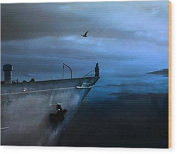 West Across The Ocean Wood Print by Joachim G Pinkawa