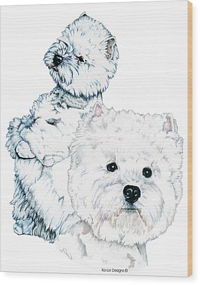 West Highland White Terriers Wood Print by Kathleen Sepulveda