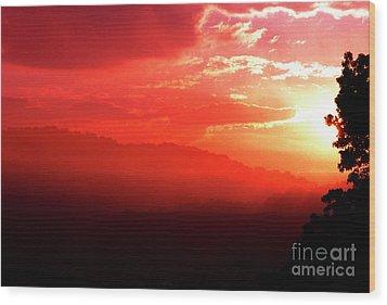West Virginia Sunrise Wood Print by Thomas R Fletcher