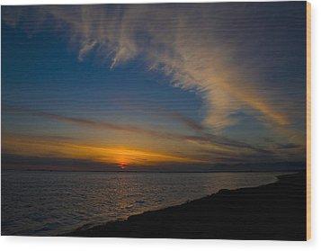 Westcoast Sunset Wood Print by Naman Imagery