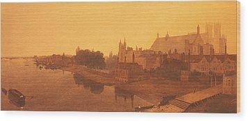 Westminster Abbey  Wood Print by Peter de Wint