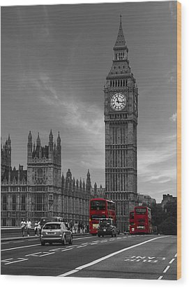 Westminster Bridge Wood Print by Martin Newman