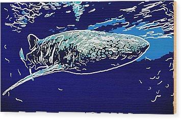 Whaleshark  Wood Print by Lanjee Chee
