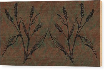 Wheat Field Wood Print by Evelyn Patrick