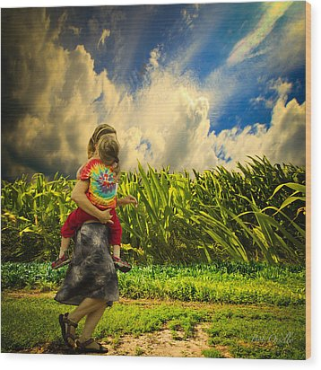 When The Sun Comes After Rain Wood Print by Bob Orsillo