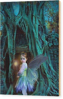 When Twilight Fades Wood Print by Jean Hildebrant