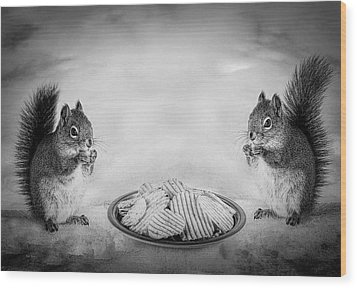 When You Lose Your Nuts There Is Always Chips Wood Print by Bob Orsillo