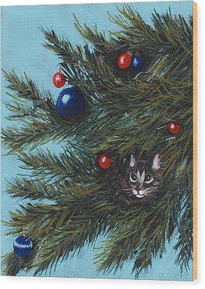 Where Is Santa Wood Print by Anastasiya Malakhova