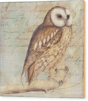 White Faced Owl Wood Print by Mindy Sommers