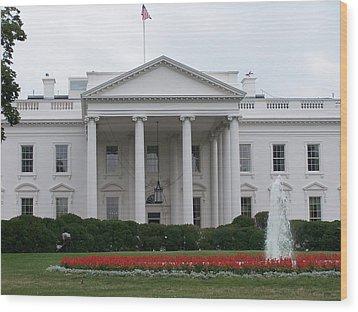 White House Wood Print by Vijay Sharon Govender