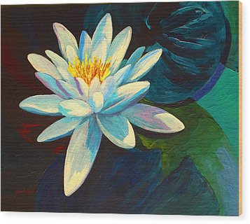 White Lily IIi Wood Print by Marion Rose