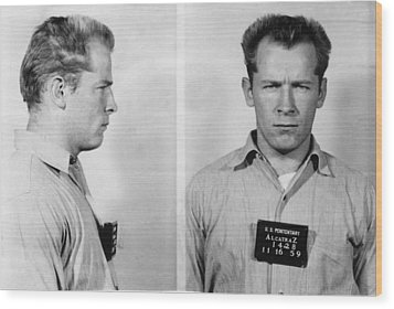 Whitey Bulger Mug Shot Wood Print by Edward Fielding