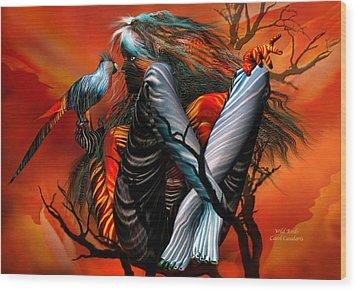 Wild Birds Wood Print by Carol Cavalaris