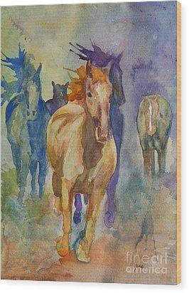 Wild Horses Wood Print by Gretchen Bjornson
