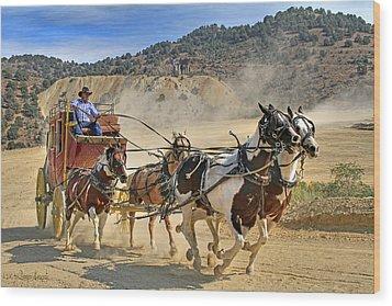 Wild West Ride Wood Print by Donna Kennedy