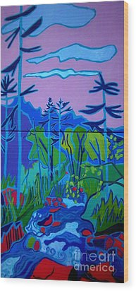Wildcat River Jackson Nh Wood Print by Debra Bretton Robinson