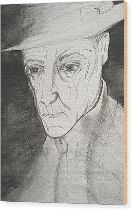 William S. Burroughs Wood Print by Darkest Artist