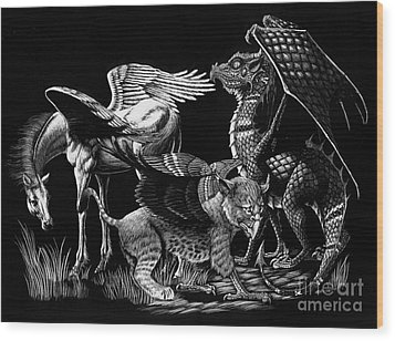 Winged Hatchlings Wood Print by Stanley Morrison