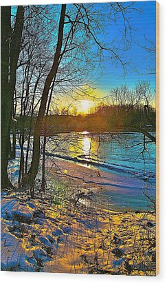 Winter Color Wood Print by Robert Pearson