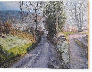 Winter In North Wales Wood Print by Harry Robertson