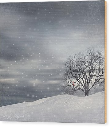 Winter Wood Print by Lourry Legarde