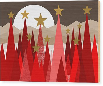 Winter Reds Wood Print by Val Arie
