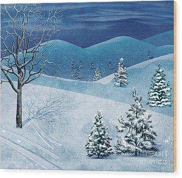 Winter Solstice Wood Print by Bedros Awak