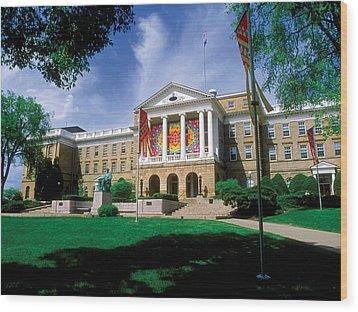 Wisconsin Bright Colors At Bascom Wood Print by UW Madison University Communications