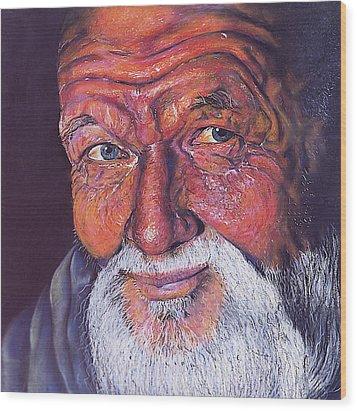 Wisdom Wood Print by Curtis James