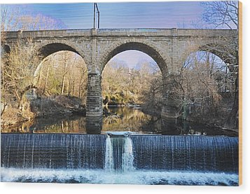 Wissahickon Viaduct Wood Print by Bill Cannon