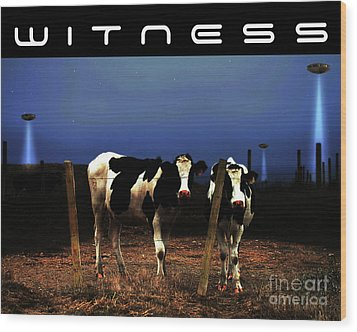 Witness . The Arrival . With Text Wood Print by Wingsdomain Art and Photography