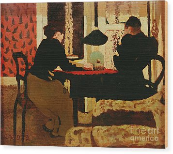 Women By Lamplight Wood Print by vVuillard