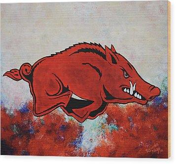 Woo Pig Sooie Wood Print by Belinda Nagy