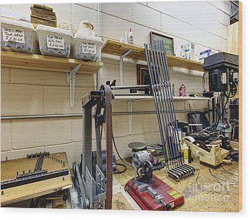 Workshop For Manufacturing Golf Clubs Wood Print by Skip Nall