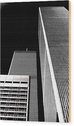 World Trade Center Pillars Wood Print by Deborah  Crew-Johnson