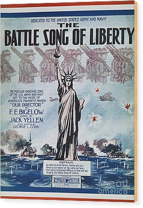 World War I: Song Sheet Wood Print by Granger