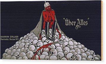 World War I, Streetcar Advertisement Wood Print by Everett