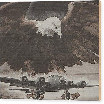 World War II Advertisement Wood Print by American School