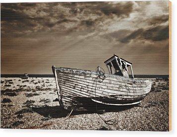 Wrecked Wood Print by Meirion Matthias
